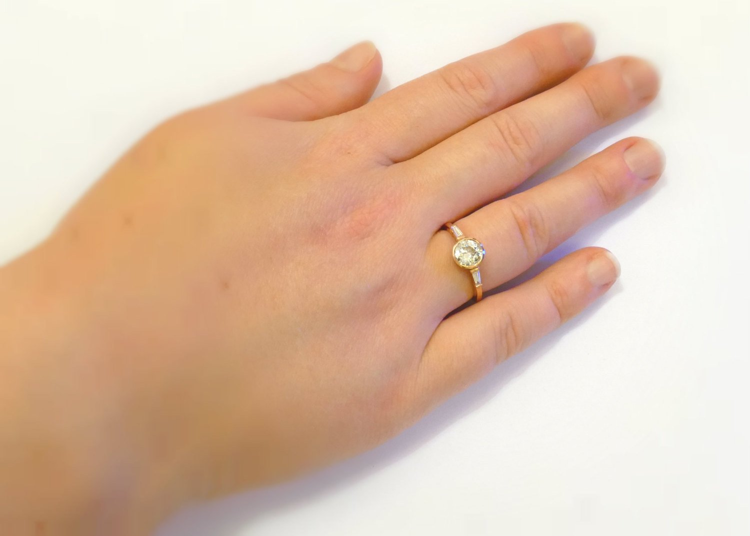 Rose Gold 1 Carat Enement Rings | 1 Carat Diamond Solitaire Engagement Ring Handmade In Rose Gold With