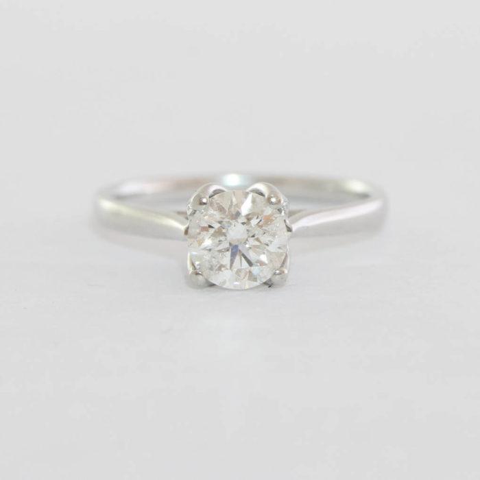 a9951e9e0 1 carat diamond solitaire engagement ring in platinum vintage UK – Aardvark  Jewellery