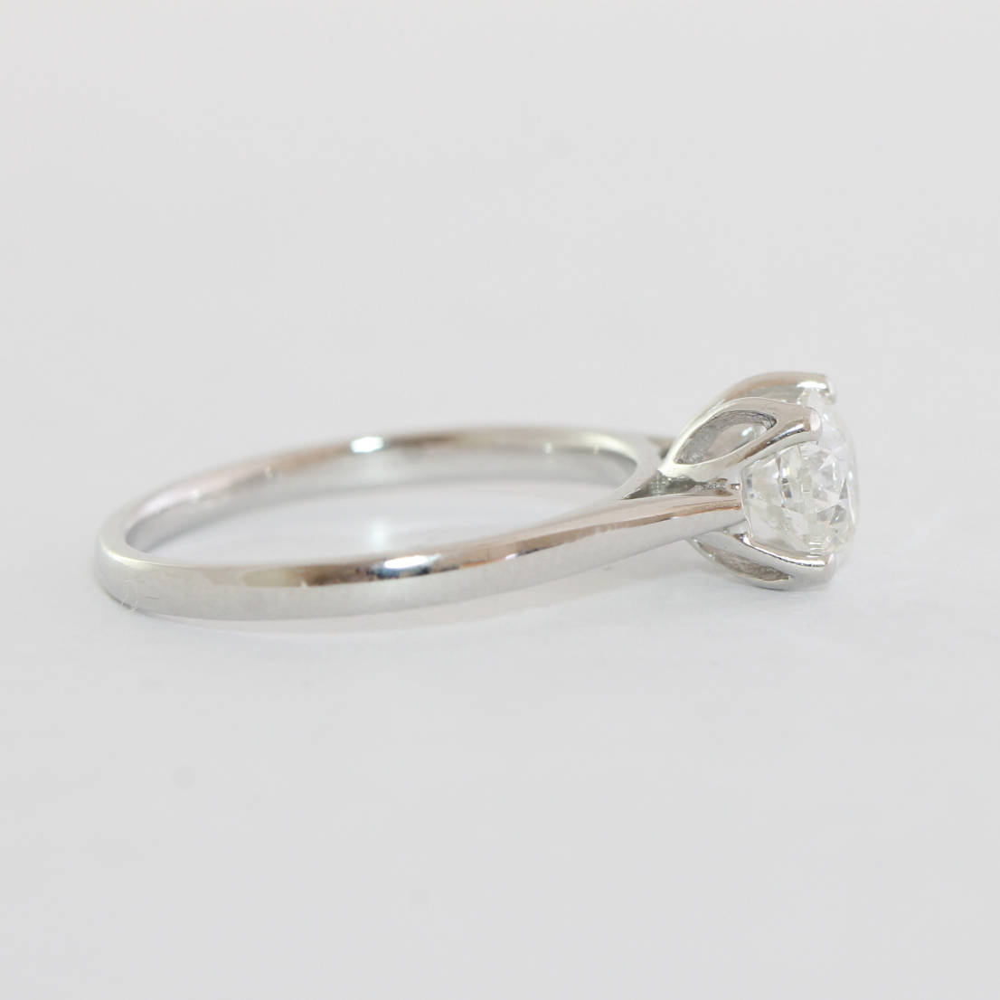2e3f72ca7 1 carat diamond solitaire engagement ring in platinum vintage UK ...